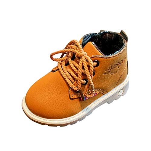 Toddler Unisex Leather Boots Lace Up,HOMEBABY Baby Boys Girls Soft Sole Winter Warm Shoes Boots Sneaker