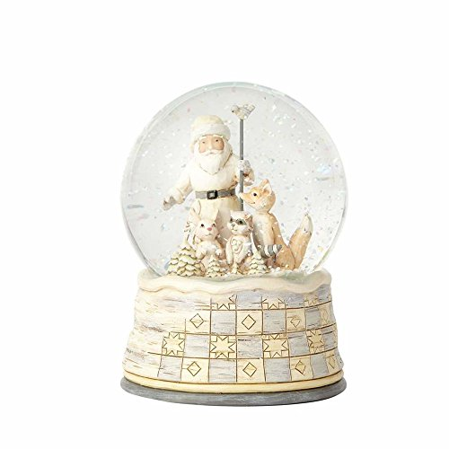 Heartwood Creek White Woodland Santa (Waterball) -