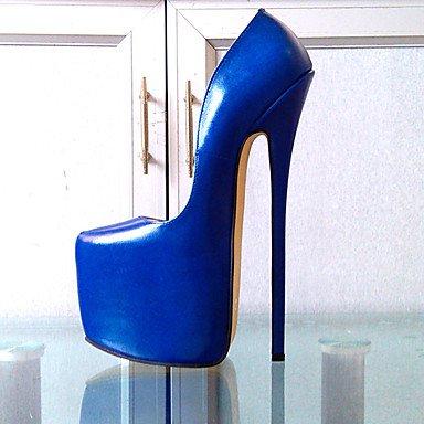 Moda Donna Sandali Sexy donna talloni 25cm Altezza tacco Sexy punta appuntita Stiletto Heel Platform PU Pompe di partito più colori disponibili Blue