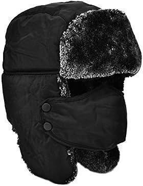 Unisex inverno di Earflap Trapper Trapper Cappelli del bombardiere Berretti Berretti tenere in caldo sci skate...