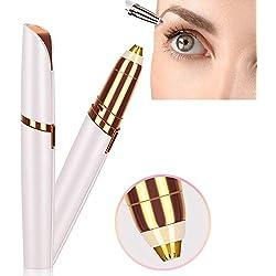 Sourcil Rasoir brows Tondeuse électrique Le Epilateur Visage décapant impeccable de Sourcil et Cheveux D'épilation doux en forme de rouge à lèvres (Blanc).
