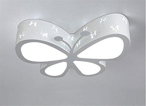 Malovecf Kinderzimmer Deckenleuchte Schlafzimmer Lampe LED kreative Schmetterling Beleuchtung Kindergarten Mädchen Prinzessin Raum Beleuchtung, 50 * 40 * 10CM, 24W, Weißes Licht (Weiß) Slim Baby-flasche