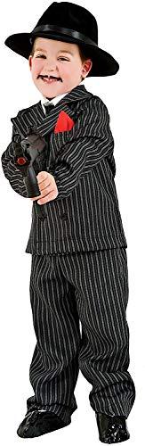 Carnevale Venizano CAV3625-4 - Kinderkostüm Gangster Baby - Alter: 1-6 Jahre - Größe: 4 (Baby Gangster Kostüm)