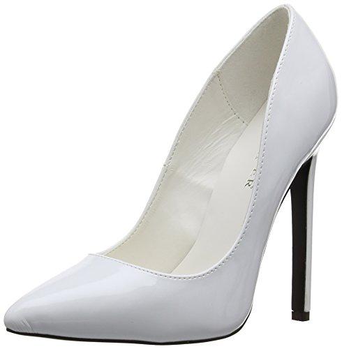 Pleaser EU-SEXY-20 SEXY20/W, Scarpe col tacco donna Bianco (Weiß (White pat))
