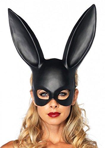 Verruchte Hasenmaske von Leg Avenue Bunny Halbmaske Schwarz sexy kinky Rollenspiele, Farbe:Schwarz