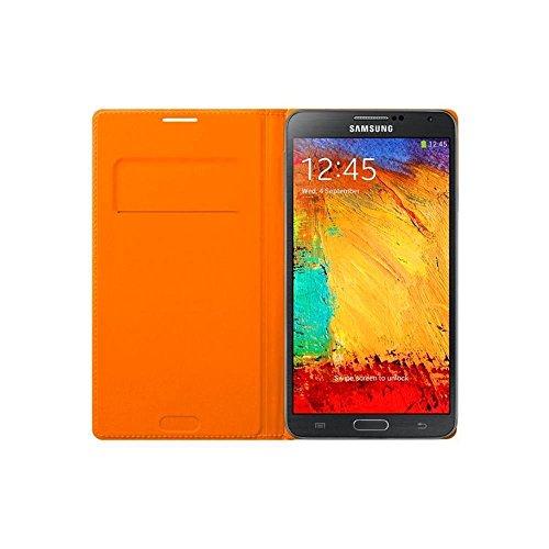 Samsung EF-WN900BOEGWW Flip Wallet Case Galaxy Note 3 N9005 inkl. Visitenkarten Fach Wild orange