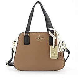 Cathy London Womens Handbag, Material- Syntethic Leather, Colour- Khaki/Beige