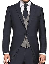 Wilvorst - Smoking - Uni - Homme bleu Mitternachtsblau Taille unique