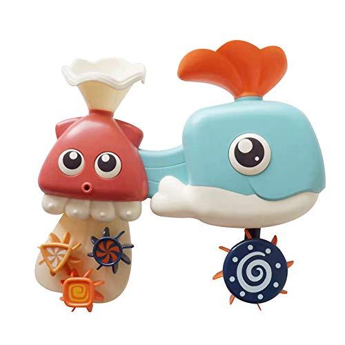 HappySDH Badespielzeug Baby Wale Krake Im Wasser Spielen Badespaß Badewannen Strandspielzeug Dusche Pool und Schwimmbad Kleinkindspielzeug ideal als Geschenk (Baby-dusche-spiele Für Geschenke)