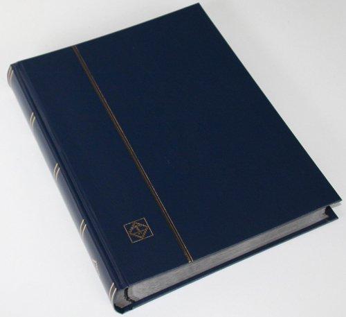 64 schwarze Seiten LEUCHTTURM Einsteckbuch Briefmarkenalbum Einband dunkelblau Test