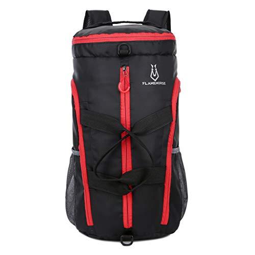 Caerling Faltbar Rucksack Anti-Diebstahl Rucksack Schulrucksack Handtasche Multifunktion Business Fitnesstasche Taschen Großer für Arbeit Reisen