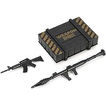Qverdant RC Rock Crawler uno y Diez Decoración Accesorios de plástico para la Caja del Arma