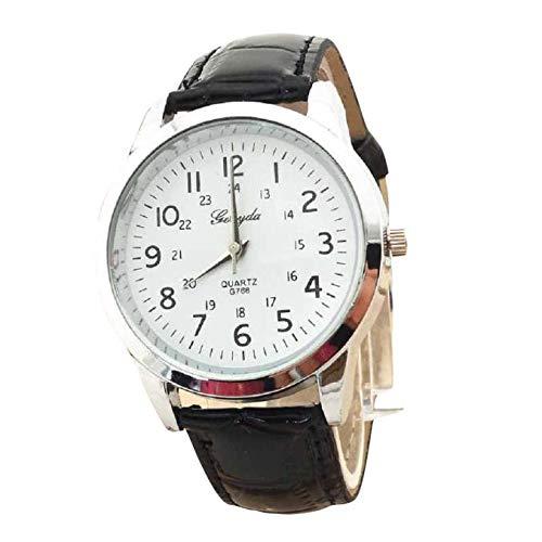 Bestow Reloj Simple Reloj de Pulsera de Cuarzo Elegante Correa de Cuero Deportivo Analš®gico BK Reloj...