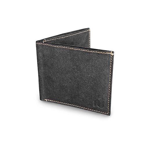 NEWBEK - Slim Wallet - Extrem dünne Geldbörse mit Münzfach, RFID-Schutz, aus reiß- & wasserfestem ökofreundlichem Material wie Leder: Crinkled-Papier. Veganer Geldbeutel. Damen & Herren Portemonnaie. -