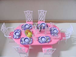 Barbie Size Dollhouse Furniture- Gloria Dining Room