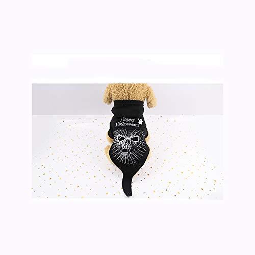 Skelett Kostüm Ziel - mayizhong Hundekleidung Halloween lustige Schwarze Horror