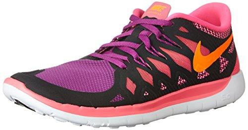 Nike - Free 5.0, pantofole per bambine e ragazze Black/Pink/Bold Berry/Orange