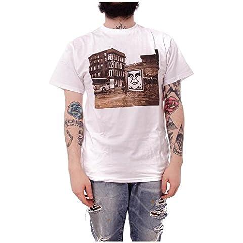 OBEY Corporate violencia,–Camiseta de, color blanco
