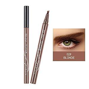 Lamavido – Bolígrafo para cejas de tatuaje, tinta de gel, resistente al agua, con cuatro puntas, 3 colores, gel para cejas de larga duración y crema de tinte para maquillaje de ojos de larga duración