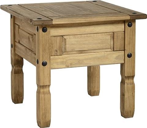 Corona Lamp Table In Distressed Wax Pine