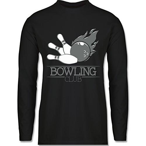 Bowling & Kegeln - Bowling Club Ball Flamme - Longsleeve / langärmeliges T-Shirt für Herren Schwarz
