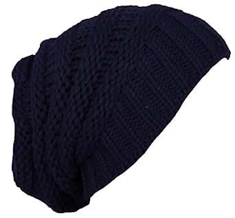Damen Wollmütze in verschiedenen Farben Wintermütze TOP NEU Herbst / Winter Dunkelblau M2003
