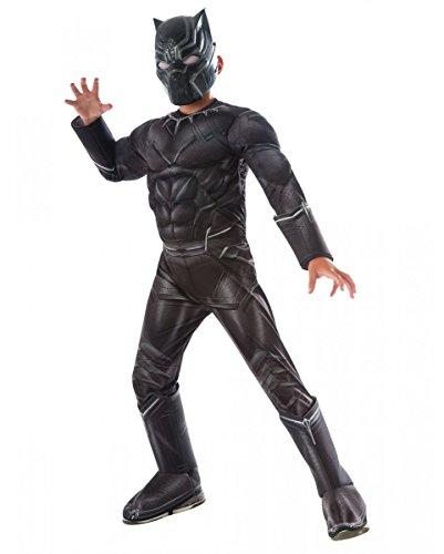 nther Muskel-Kinderkostüm für Fasching S (Black Panther Marvel Kostüm Film)