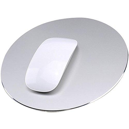 Delmkin Unisex-Youth, Silber-220220mm, Mauspad Aluminium Pad Laptops Mouse Pad-220220mm (Silber)