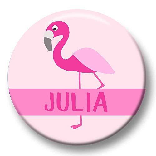 Unter Dem Kostüm Meer Junge - Polarkind Button Namenschild Anstecker Anstecknadel Flamingo mit Wunschname und Wunschgröße handmade 38mm oder 59mm Kindergeburtstag Mitbringsel