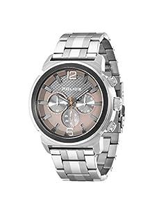 El concepto de los hombres de la policía con un reloj de cuarzo de color gris y esfera cronográfica y plata pulsera de acero inoxidable 14377jstu/61 m de Police