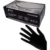 Nitras Medical 8320 BLACK WAVE - Guantes de nitrilo desechables, color negro, talla L 100 unidades.