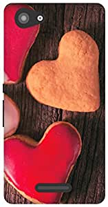 The Racoon Grip Valentines Cookies hard plastic printed back case / cover for Sony Xperia E3