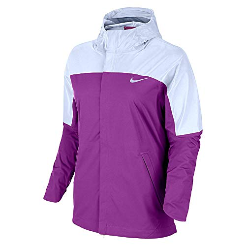 Nike Damen Laufjacke Shield Runner Flash 2016 Lila, Damen, violett/silberfarben, Small