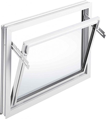 MEA 60 cm Breite untersch. Höhen Iso-Glas Kellerfenster Kippfenster weiß, Größe Kippfenster:60 x 50 cm