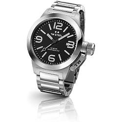 TW Steel Canteen Style bracelet TW-300 - Reloj analógico de cuarzo para mujer, correa de acero inoxidable color plateado