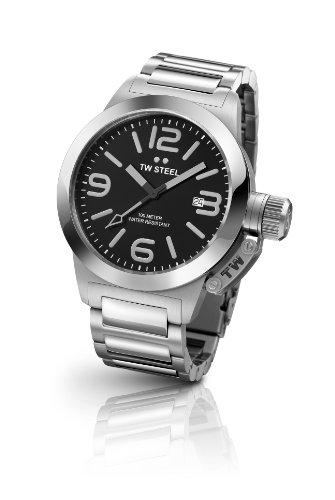 TW Steel Herren-Armbanduhr Canteen Style Analog Quarz Edelstahl TW-300