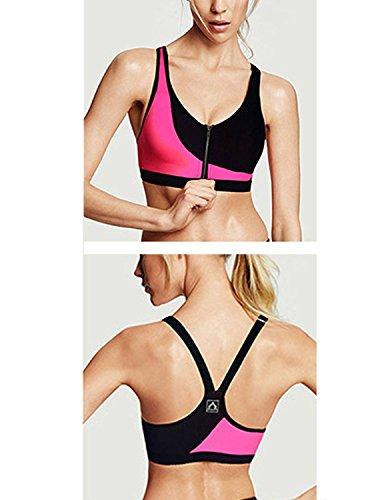 M-Queen Femmes Soutiens-Gorge de Sport Padded Sexy Bandeau Sans Armature Bra Lingerie Yoga Fitness Jogging Gym Bra Rouge