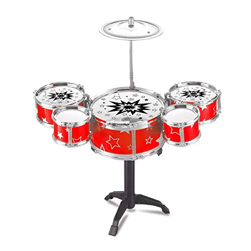 EisEyen Schlagzeug Set Drum für Kinder, Spielzeug, Musikinstrument, 5 Trommeln