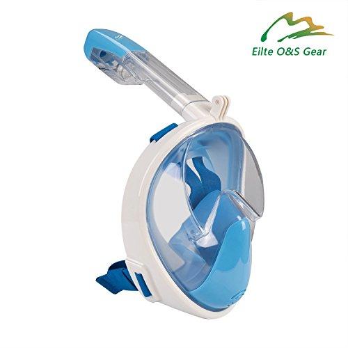 b514237411a9 Elite O&S adulti e bambini maschera pieno facciale anti-appannamento anti  fuoriuscita snorkeling design snorkeling