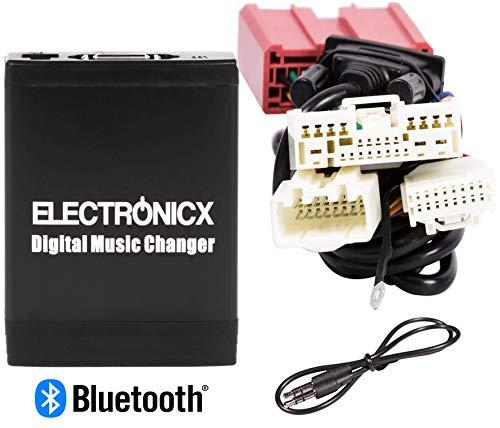 Electronicx Elec-M06-MAZ2-BT Adapter Autordiio USB, SD MP3 AUX Bluetooth Freisprechanlage für Mazda ab 2009 CD-Wechsler (Mazda 3 Sound System)