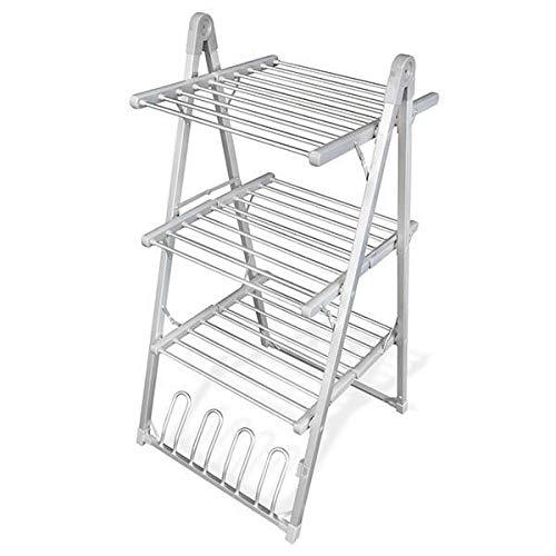 Thermic Dynamics Comfy Dryer Compak Tendedero Eléctrico Plegable, 30 Barras, 4 Soportes para Calzado, Acero Inoxidable, Gris, 66 x 135 x 73