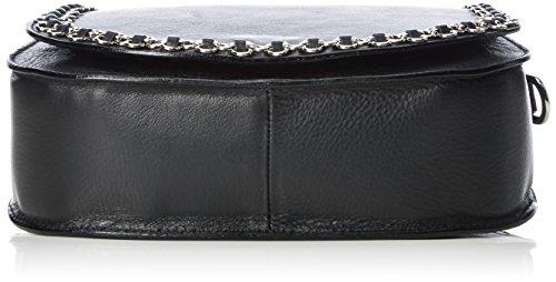 Caviar Gauche Ladies Petite Bag Con Tracolle A Catena Di Fiori, 22x20x6 Cm Nero (nero / Argento)