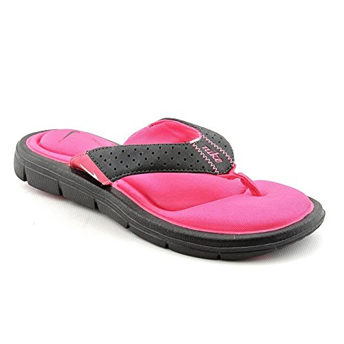 Nike Womens Comfort Thong Sandale Schwarz / Rosa / Wei� Grö�e 9