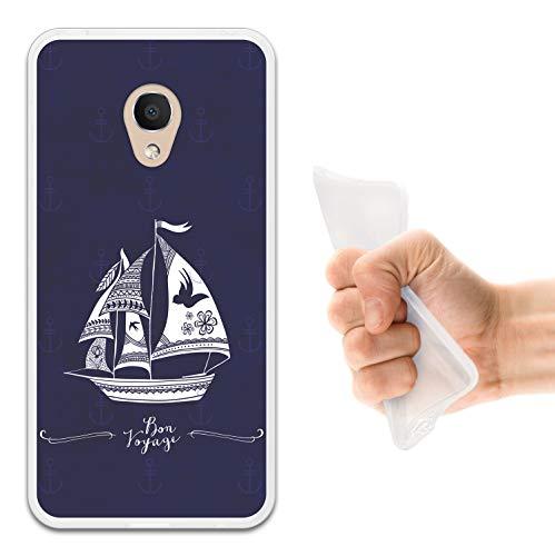WoowCase Alcatel 1C DUAL SIM Hülle, Handyhülle Silikon für [ Alcatel 1C DUAL SIM ] Marine Style- Schiff Handytasche Handy Cover Case Schutzhülle Flexible TPU - Transparent