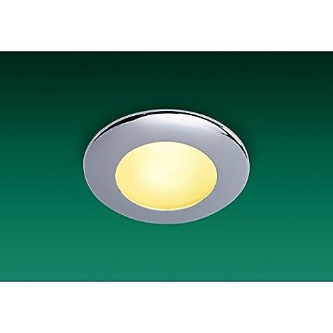 Modern, Minimalist Chrome Bathroom Downlight, bathroom downlight chrome, 1 Bulb, bathroom, IP64 (Sonar Chrome Bathroom Downlight), FL5593CHI4L |
