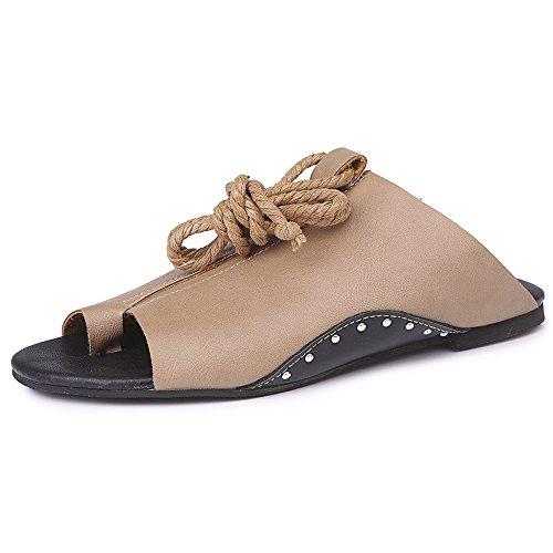 Felicove Frauen Flache Römische Sandalen Open Ankle Flat Straps Platform Wedges Größe 35-43 -