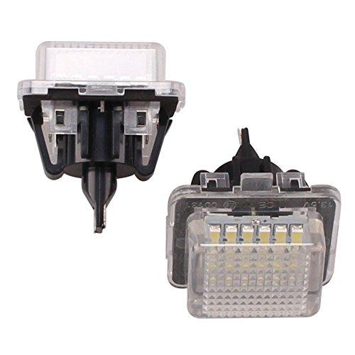 katur 1Paar 1,5W 12V-14.5V 18SMD LED Kennzeichenbeleuchtung Weiß Lampen für Mercedes-Benz W221C216W212W204C632006–201150000Stunden (W204 Mercedes)