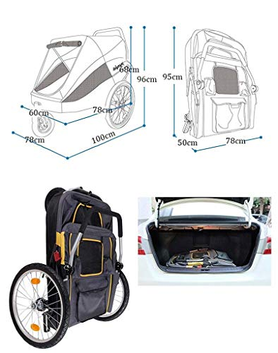 Imagen para KKCD-Carrito Perro Gold Bus Pet Cochecito/Perro Grande Fuera del Trolley Gold Hair/Luxury Sports Car/Pet Travel System/Pet Travel Cochecito Cochecito Carritos para Perros
