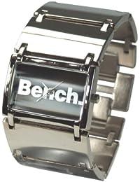 Bench BC0027BK - Reloj analógico de cuarzo para hombre con correa de silicona, color plateado