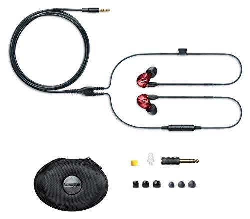 Shure SE535 In Ear Kopfhörer mit Sound Isolating Technologie, 3, 5-mm-Kabel, Fernbedienung und Mikrofon - Premium Ohrhörer mit warmem & detailreichem Klang - Limited Edition Rot - 3